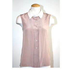 Walter Baker Silk Sleeveless Button Down Top
